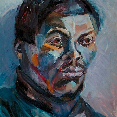 Schwarz-Portrait